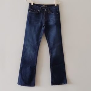 7 For All Man Kind Jeans 27 Blue Cotton Blend